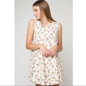 Brandy Melville Alena Dress Sunflower Print